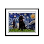 Starry / Std Poodle(bl) Framed Panel Print