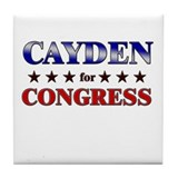 CAYDEN for congress Tile Coaster