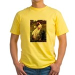 Windflowers / Poodle (BLk-ST) Yellow T-Shirt