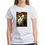 Windflowers / Poodle (BLk-ST) Women's T-Shirt