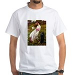 Windflowers / Poodle (BLk-ST) White T-Shirt