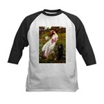 Windflowers / Poodle (BLk-ST) Kids Baseball Jersey