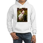 Windflowers / Poodle (BLk-ST) Hooded Sweatshirt