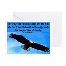 EAGLE QUOTE Greeting Card