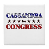 CASSANDRA for congress Tile Coaster