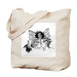 B&amp;W Calico Kitten Tote Bag