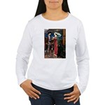 Tristan / Std Poodle(blk) Women's Long Sleeve T-Sh