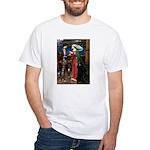 Tristan / Std Poodle(blk) White T-Shirt