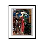 Tristan / Std Poodle(blk) Framed Panel Print