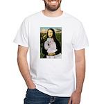 Mona / Std Poodle(w) White T-Shirt