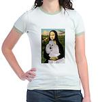 Mona / Std Poodle(w) Jr. Ringer T-Shirt