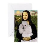 Mona / Std Poodle(w) Greeting Card
