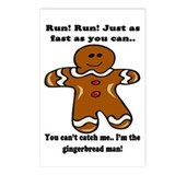 GINGERBREAD MAN! Postcards (Package of 8)