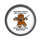 GINGERBREAD MAN! Wall Clock