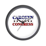 CAROLYN for congress Wall Clock