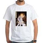 Queen / Std Poodle(w) White T-Shirt
