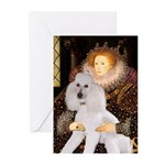 Queen / Std Poodle(w) Greeting Cards (Pk of 10)
