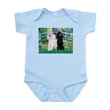 Bridge / Std Poodle (pr) Infant Bodysuit