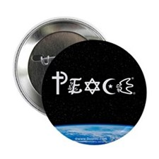 Peace on Earth at Night Button