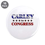 "CARLEY for congress 3.5"" Button (10 pack)"