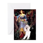 Ophelia /2 Poodles(b&w) Greeting Cards (Pk of 20)