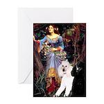 Ophelia /2 Poodles(b&w) Greeting Card