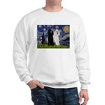 Starry Night / 2 Poodles(b&w) Sweatshirt