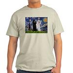 Starry Night / 2 Poodles(b&w) Light T-Shirt