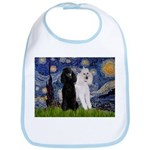 Starry Night / 2 Poodles(b&w) Bib