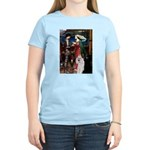 Tristan / 2 Poodles(b&w) Women's Light T-Shirt