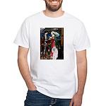 Tristan / 2 Poodles(b&w) White T-Shirt