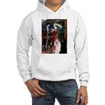 Tristan / 2 Poodles(b&w) Hooded Sweatshirt