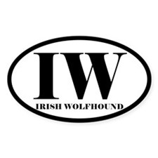 IW Irish Wolfhound Decal