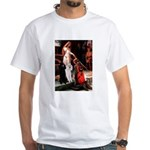 Accolade / 2 Poodles(b&w) White T-Shirt