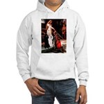 Accolade / 2 Poodles(b&w) Hooded Sweatshirt