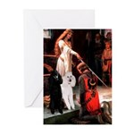 Accolade / 2 Poodles(b&w) Greeting Cards (Pk of 20