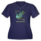 Peaceful Messenger Women's Plus Size V-Neck Dark T