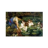 Waterhouse art water nymphs Rectangle Magnet