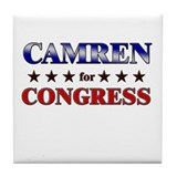 CAMREN for congress Tile Coaster