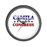 CAMILA for congress Wall Clock