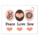 Peace Love Sew Sewing Small Poster