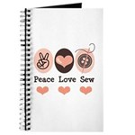 Peace Love Sew Sewing Journal