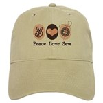 Peace Love Sew Sewing Cap