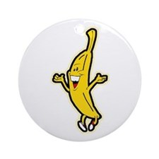 Dancing Banana Ornament (Round)