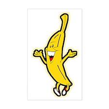 Dancing Banana Rectangle Sticker