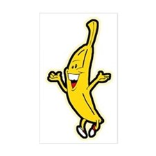 Dancing Banana Rectangle Decal