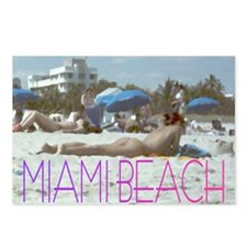 Miami Beach Postcard Postcards (Package of 8)