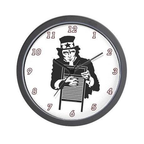 Uncle Washboard Wall Clock