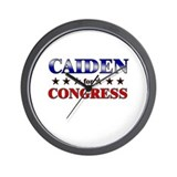 CAIDEN for congress Wall Clock