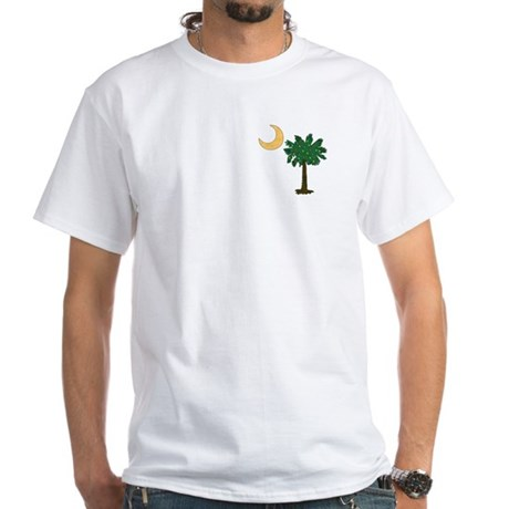 Christmas Palmetto White T-Shirt